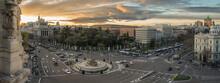 Aerial View Of Cibeles Fountai...
