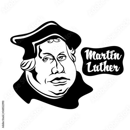 Obraz na plátně Cartoon on Martin Luther