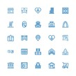 Editable 25 exterior icons for web and mobile