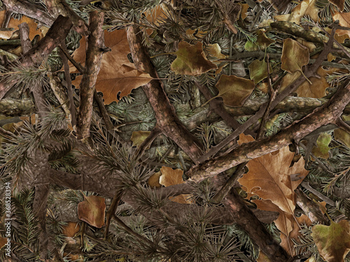 Stampa su Tela Realistic forest camouflage