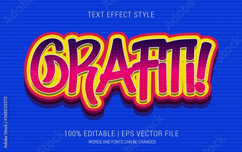 GRAFITI! TEXT EFFECTS STYLE Fototapeta