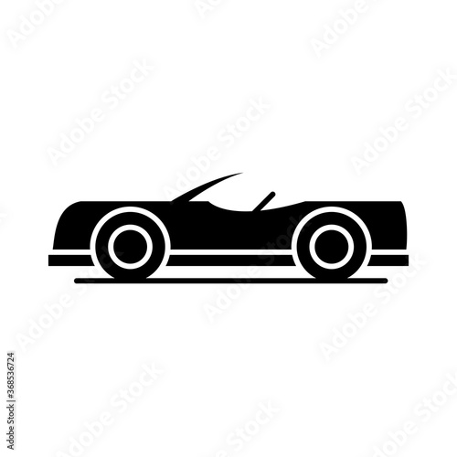 Valokuva car roadster model transport vehicle silhouette style icon design