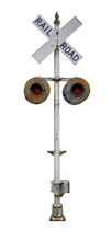 Vintage Virginia Railroad Crossing Sign. Isolated.