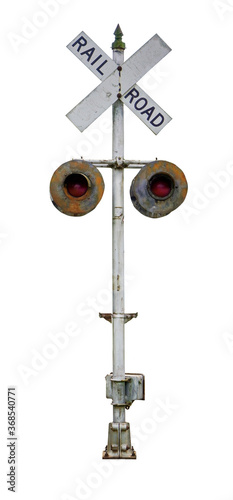 Vintage Virginia railroad crossing sign. Isolated. Fototapet