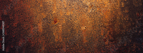 Foto Empty rusty corrosion and oxidized background, panorama, banner