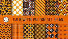 A Set Of Halloween Patterns Fo...