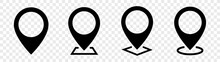 Location Internet Pin Icons Pack In Checkerboard BG. Internet Flat Icon Symbol For Applications.