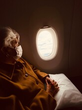 Old Woman Looking For Horizon ...
