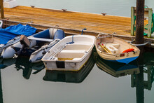 Dinghies Docked At Morro Bay M...