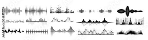 Obraz na plátně Sound waves icon set