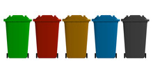 Recycling Bins Sorted By Colou...