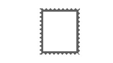 Blank Postage Stamps Set On Wh...
