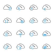 Cloud Computing Line Style Ico...
