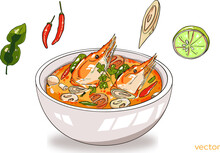 Tom Yum Kung With Ingredients ...