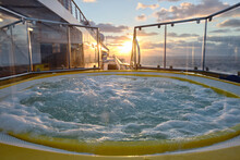 Jacuzzi On A Cruise Ship At Su...