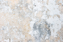 Old Wall With Peeling White Paint