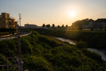A Beautiful Sunset In Yokohama