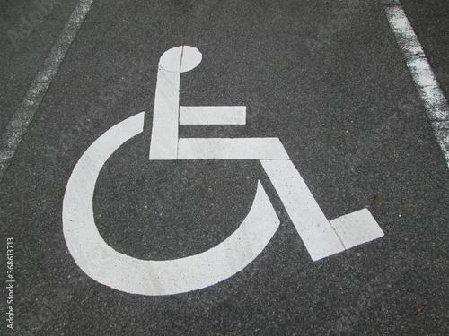 障害者専用駐車場 Fototapet