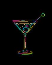 Neon Effect Martini