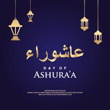 Happy Ashura Day Vector Design...
