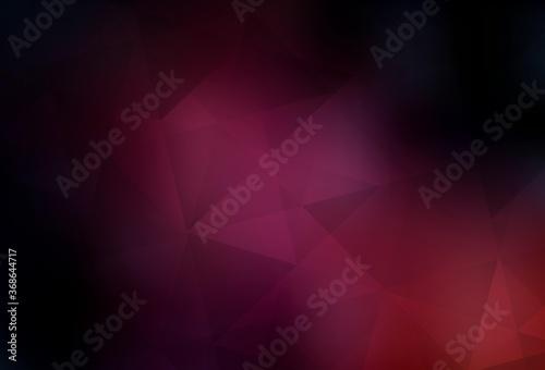 Dark Pink vector abstract mosaic background. Canvas-taulu