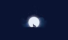 Elite Wolf Under The Moonlight