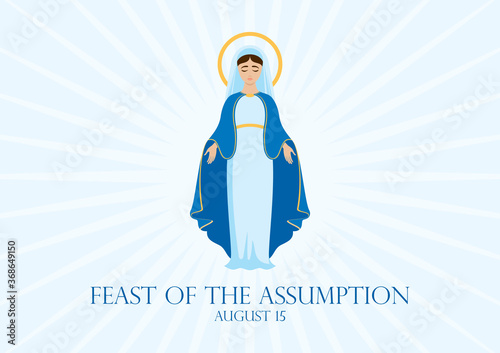 Foto Feast of the Assumption vector