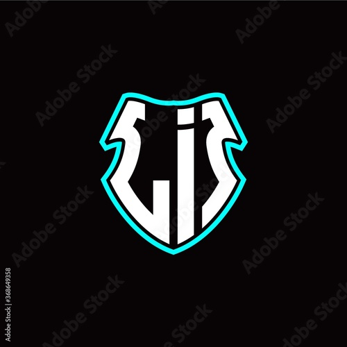 Photo LI initial logo design with a shield shape