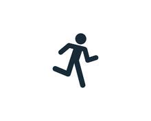 Running Stick Man Icon Vector Logo Template Illustration Design