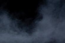 Grey Smoke On A Black Backgrou...