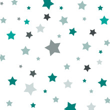 Seamless Pattern With Blue Stars. Can Be Used As Decoration For The Gift Boxes, Wallpapers, Backgrounds, Web Sites.