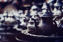 Old Teapots In Morocco