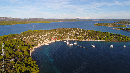 Croatia landscape from the see side with drone view Canvas Print