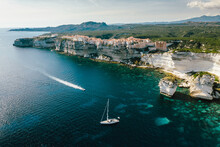 Aerial View Of Sail Boat Ancho...
