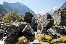 Close-up Of Huge Boulders With...