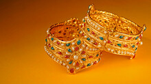 Indian Wedding Gold Bracelet,Indian Traditional Jewelry