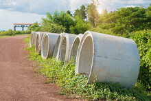 Cement Pipes Beside The Countr...