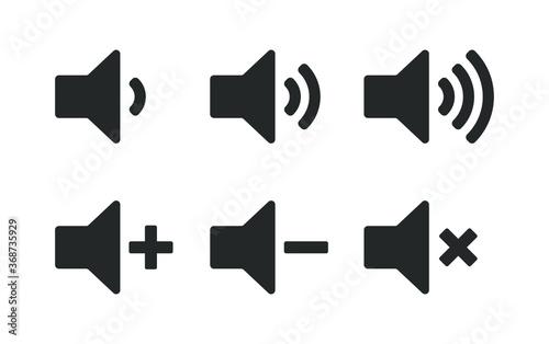 Photo Speaker icon symbol set