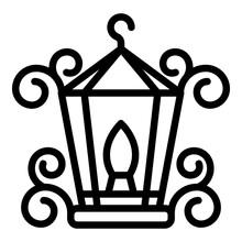 Blacksmith Metal Lamp Icon. Ou...