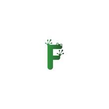 Letter F Logo Design Frog Footprints Concept
