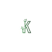 Letter K Logo Design Frog Foot...