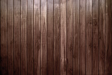 Old Vintage Brown Wood Lath Wall Cladding For Background And Texture Images.