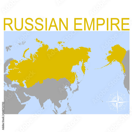 Fotografie, Obraz vector map of the Russian Empire for your design