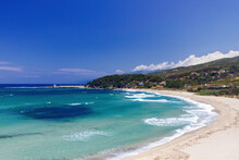 Beach Mesakti, Very Close To Armenistis Town, In Northern Part Of Ikaria (or Icaria) Island, In Aegean Sea, Greece, Europe