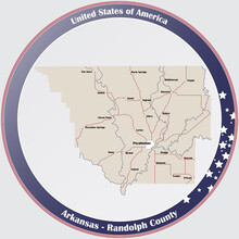 Round Button With Detailed Map...