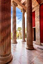 Doric Columns (pillars) At The...