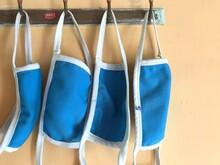 Blue Color Face Masks For Fami...
