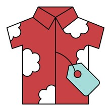 Summer Shirt Icon, Summer Sale Related Vector