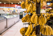 Closeup Shot Of Ripe Bananas F...