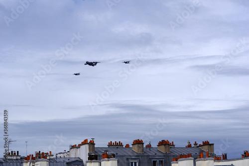 Canvas Patrouille aérienne du 14 juillet